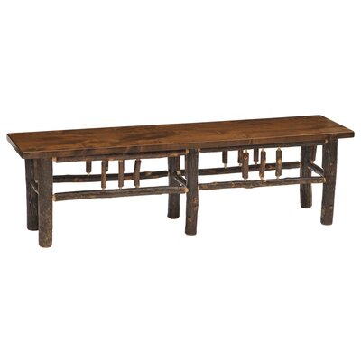 Hickory Bench Color: Rustic Maple, Size: 48""