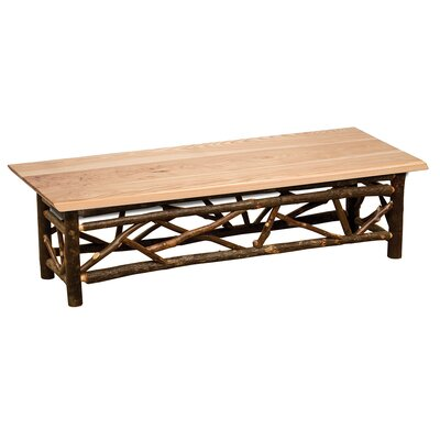 "Twig Bench Upholstery: Hickory, Size: 18"" H x 48"" W x 18"" D"