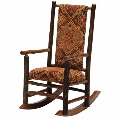Hickory Rocking Chair Upholstery: Black
