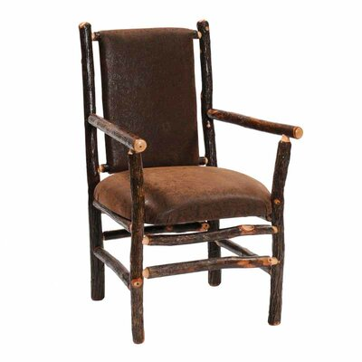 Fireside Lodge Hickory Back Fabric Arm Chair