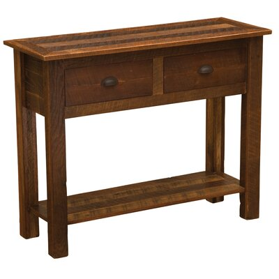 Barnwood Console Table Color: Hickory