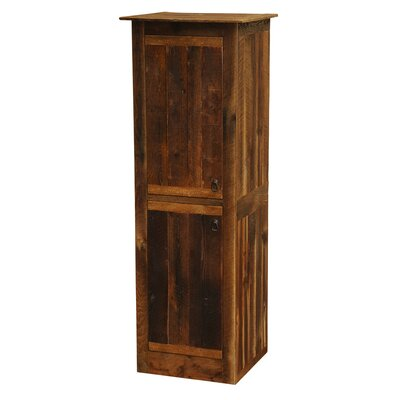 "Barnwood Accent cabinet Size: 18"", Orientation: Hinges on Left"