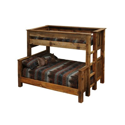 Barnwood Bunk Bed Configuration: Twin over Full with Ladder on Left