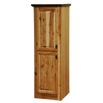 "Hickory Accent cabinet Color: Traditional Hickory, Size: 18"" W x 78"" H, Orientation: Hinges on Right"