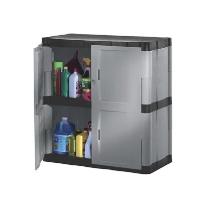 rubbermaid storage cabinets 37 quot h x 36 quot w x 18 quot d 2 door storage cabinet wayfair 25715