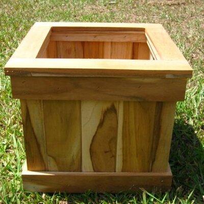 Diamond Teak Square Planter Box