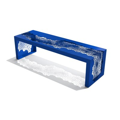 """Hive Steel Bench Size: 50"""", Color: Blue"""