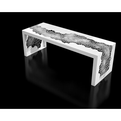 "Hive Steel Bench Size: 50"", Color: White"