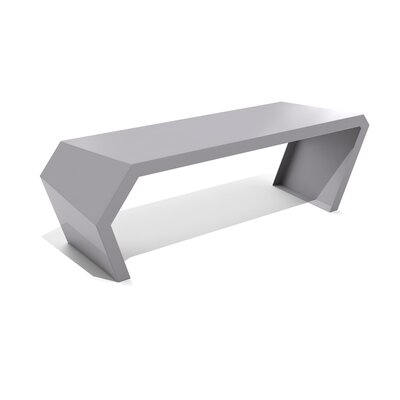 Pac Steel Bench Color: Silver Sands