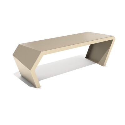Pac Steel Bench Color: Chilled Champagne