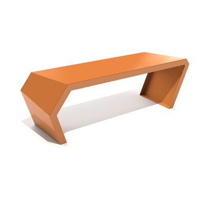 Pac Steel Bench Color: Salmon Sky