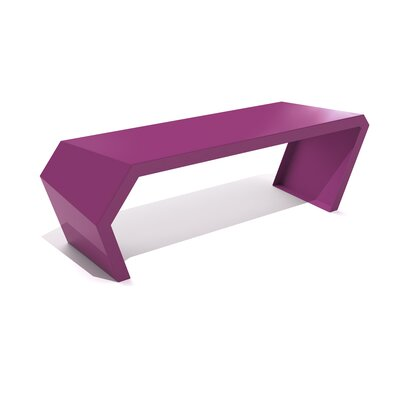 Pac Steel Bench Color: Wild Orchid