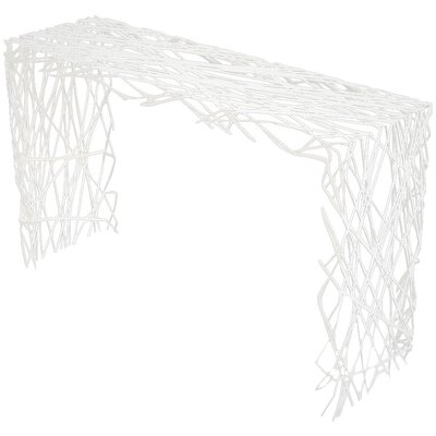 Strand Console Table Color: Brilliant White