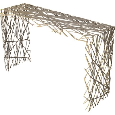 Strand Console Table Color: Chilled Champagne