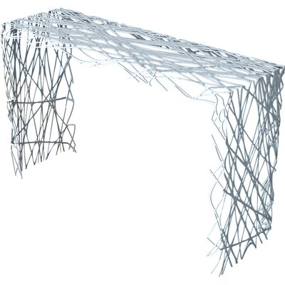 Strand Console Table Color: Glacier Gray
