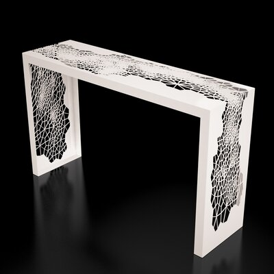 Hive Console Table Color: Cream White