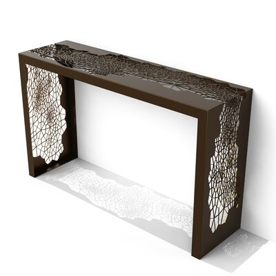 Hive Console Table Color: Burnished Bronze