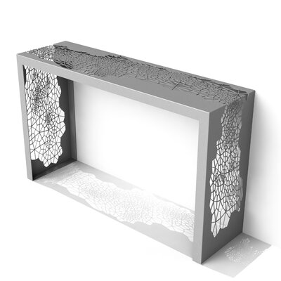 Hive Console Table Color: Silver Sand