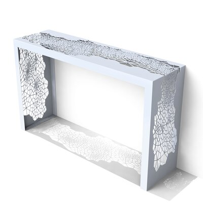 Hive Console Table Color: Galcier Gray