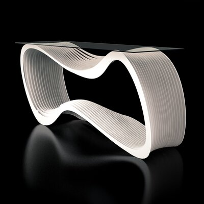 Loop Console Table Color: Cream White