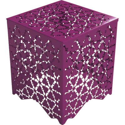 Ricami Stool Color: Wild Orchid