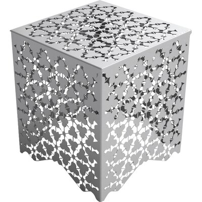 Ricami Stool Color: Silver Metallic Sand