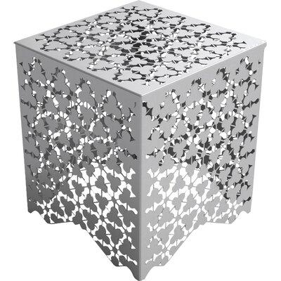 Ricami Stool Color: Silver Metallic Sand