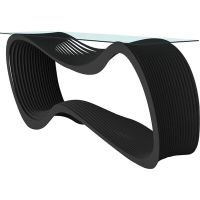 Loop Console Table Color: Jet Black