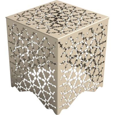 Ricami Stool Color: Chilled Metallic Champagne