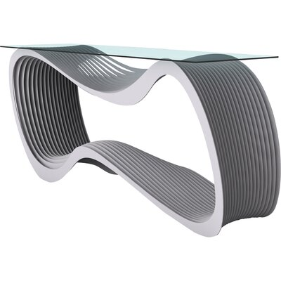 Loop Console Table Color: Aviator Gray