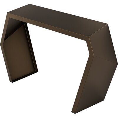 Pac Console Table Color: Burnished Bronze