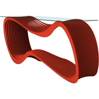 Loop Console Table Color: Spirit Red