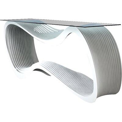Loop Console Table Color: Brilliant White