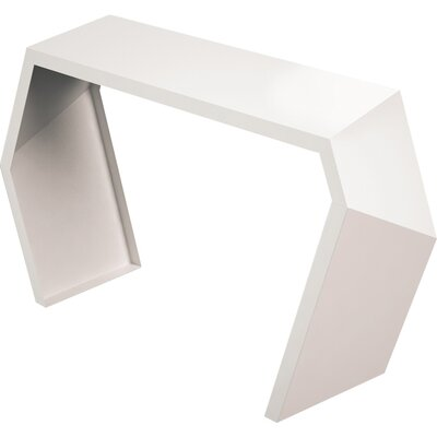 Pac Console Table Color: Cream White