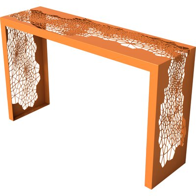 Hive Console Table Color: Salmon Sky