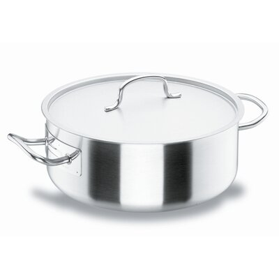 "Lacor 36cm Bratentopf ""Chef-Classic"" aus Edelstahl mit Deckel"