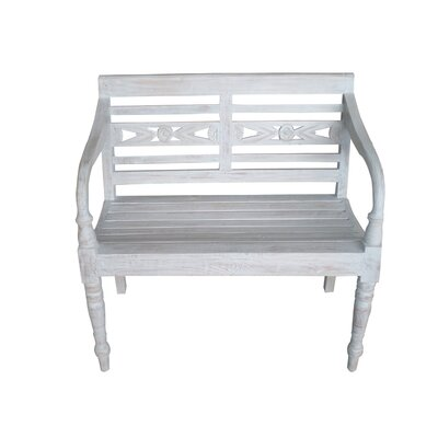 Moda Wooden Bench Color: Grey Wash