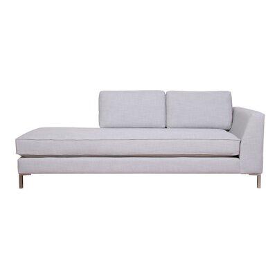 Belgium Chaise Lounge Upholstery: Brampton Gold, Orientation: Left-Hand Facing