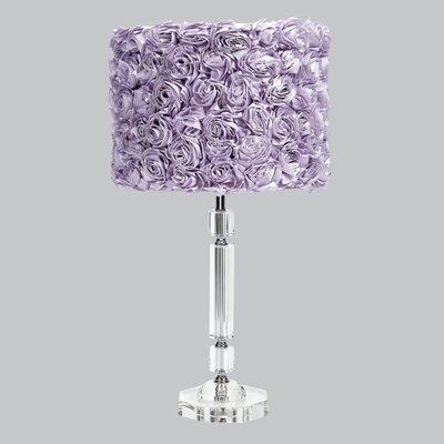 "Jubilee Collection Slender Crystal 26"" H Table Lamp Drum Shade"