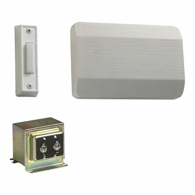 Quorum Single Door Chime Kit with One Button in White