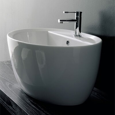 Scarabeo by Nameeks Above Counter Single Hole Bathroom Sink