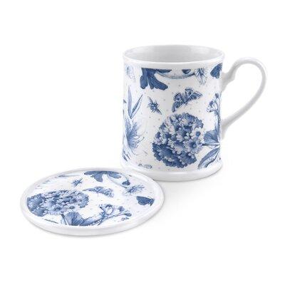 Portmeirion Botanic Blue Mug Tankard and Coaster