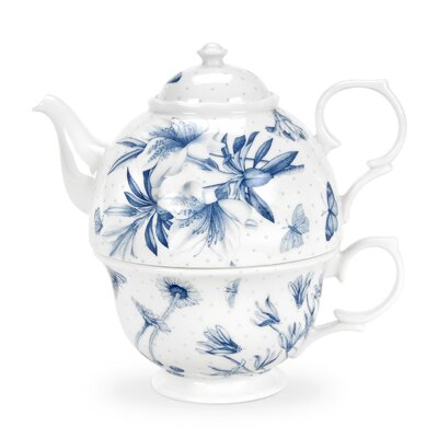 Portmeirion Botanic Blue 2 Piece China Tea Set