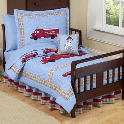 Frankie's Firetruck 5 Piece Toddler Bedding Set