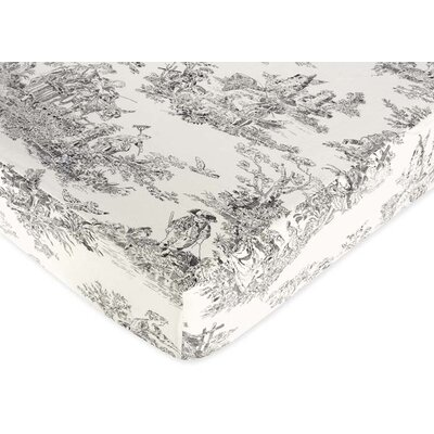 Sweet Jojo Designs French Toile Fitted Crib Sheet