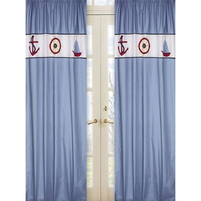 Sweet Jojo Designs Come Sail Away Cotton Curtain Panels
