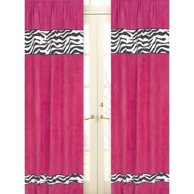Sweet Jojo Designs Zebra Curtain Panels