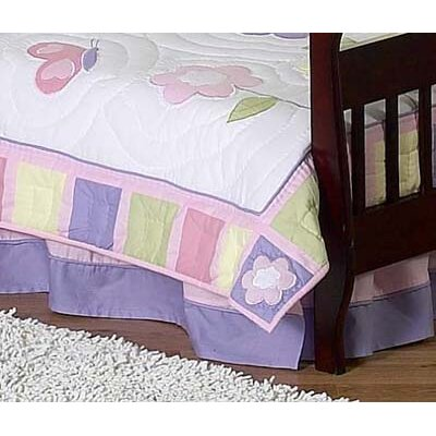 Butterfly Toddler Bed Skirt Color: Purple