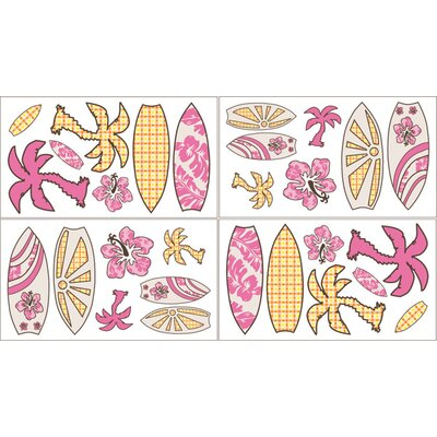 Sweet Jojo Designs Surf Pink Wall Decal
