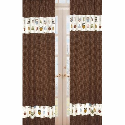 Sweet Jojo Designs Night Owl Rod Pocket Curtain Panels